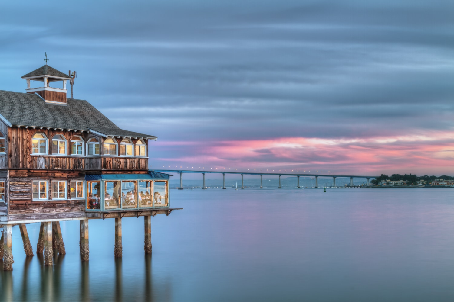 Simply Sublime | Pier Cafe and Coronado Bridge | Seaport Village | San Diego | California