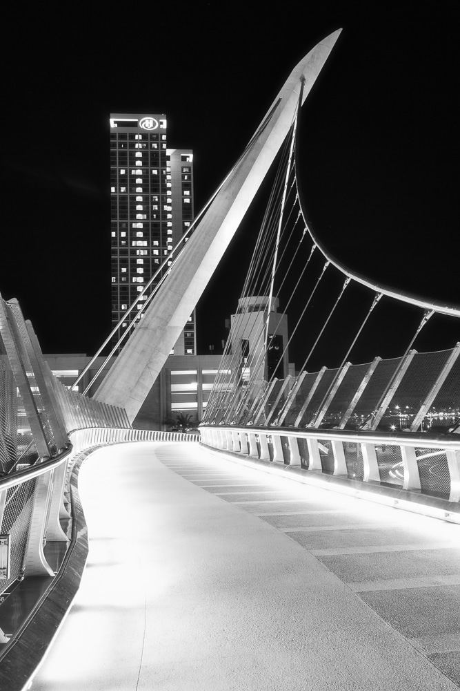 Harbor Drive Pedestrian Bridge at Night | San Diego | California