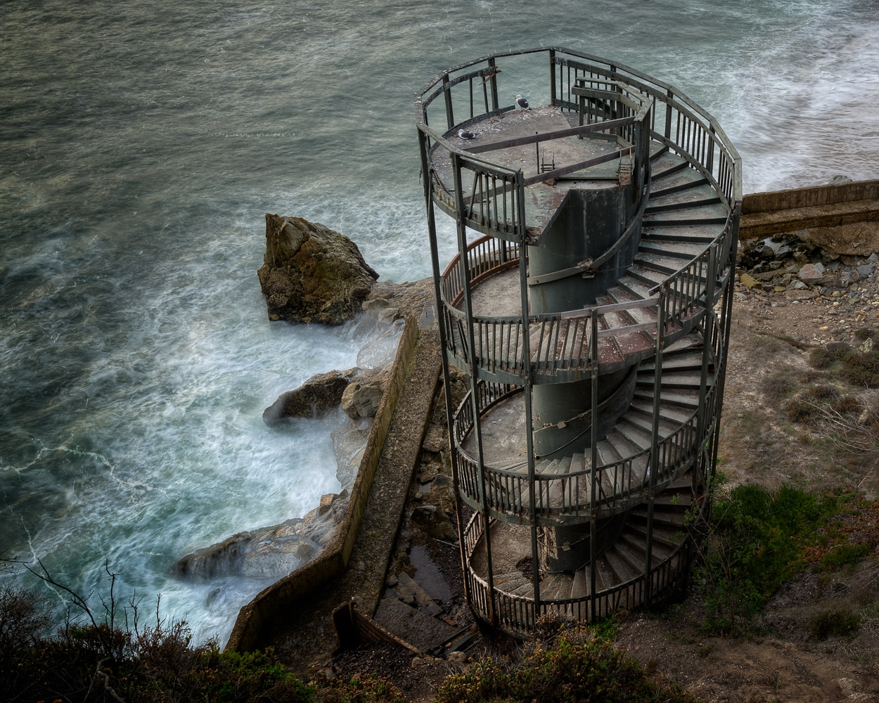Stairway to Nowhere | Abandoned Spiral Staircase | Pismo Beach | California