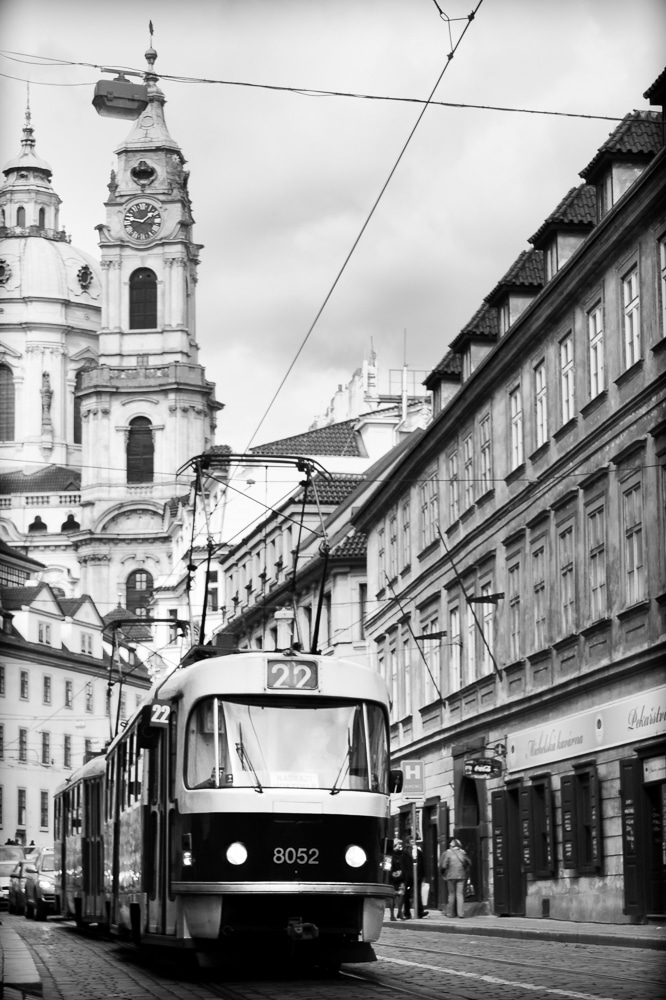 Trolly & Church of St. Nicholas | Prague | Czech Republic
