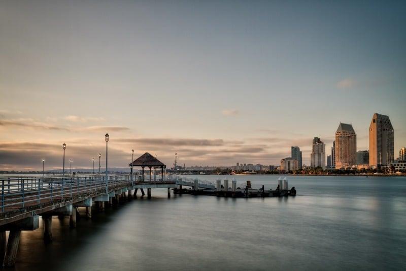 Coronado Ferry Landing at Sunset | San Diego Skyline | California