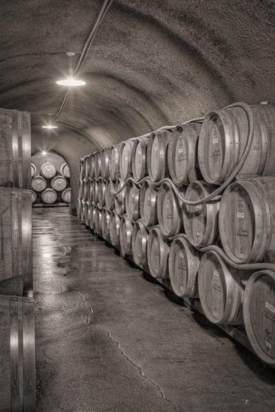 Wine Cave with Barrels | Castello di Amorosa | Calistoga | California