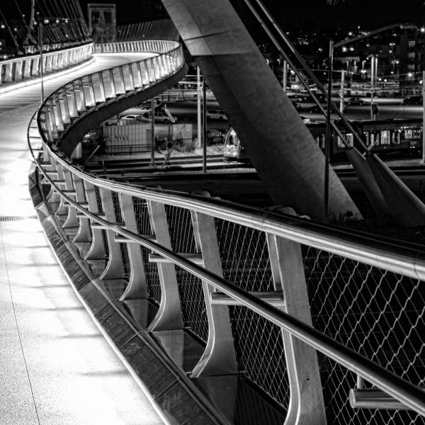 Harbor Drive Suspension Bridge at Night | San Diego | California