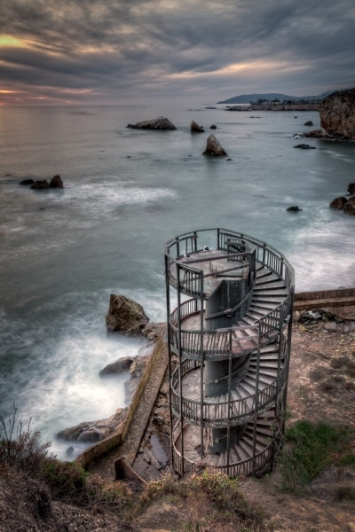 Stairway to Nowhere at Sunset | Abandoned Spiral Staircase | Pismo Beach | California