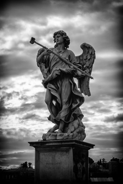 Angel with the Sponge by Antonio Giorgetti | Ponte Sant Angelo | Rome | Italy