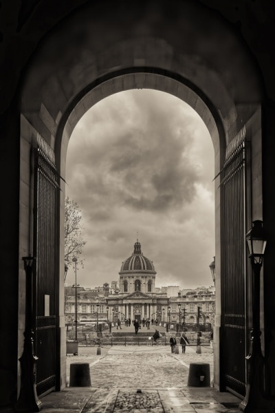 Paris Through an Arched Doorway | France