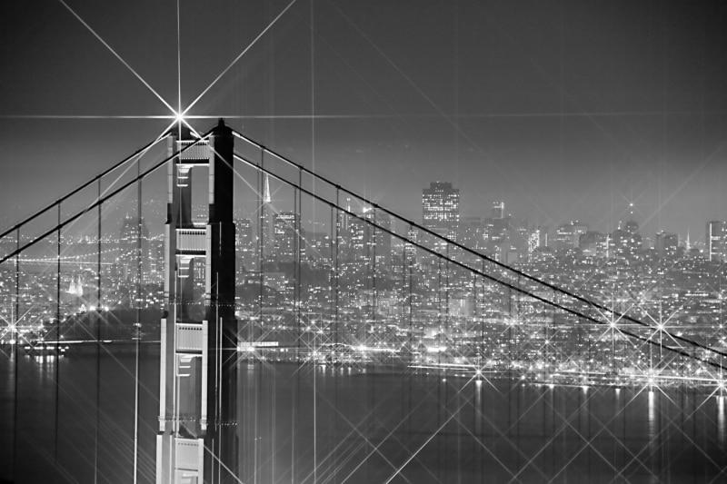 San Francisco City Lights | Golden Gate Bridge | California