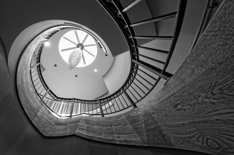 Spiral Staircase in the Chrysler Museum of Art | Norfolk | Virginia