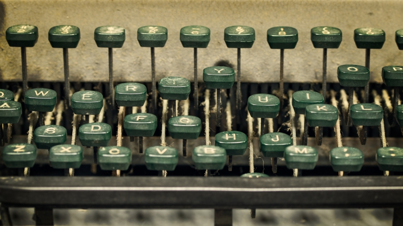 Letters From the Past | Antique Typewriter Keys