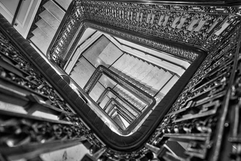 Spiraling Down | The Palace Hotel | San Francisco | California