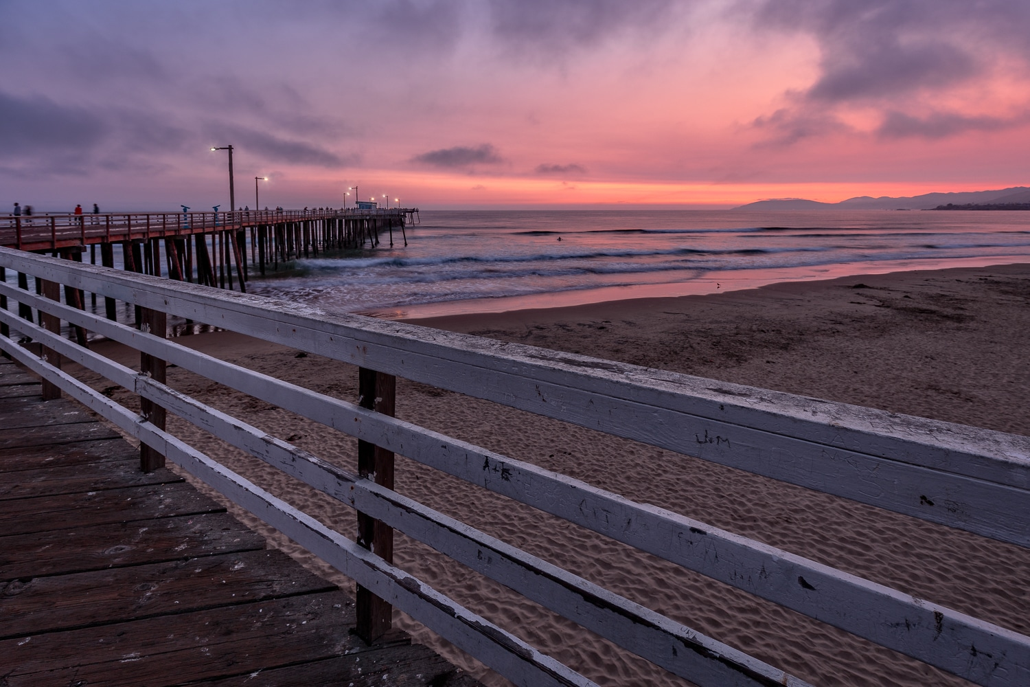 Pink Sunset at the Pismo Beach Pier | California