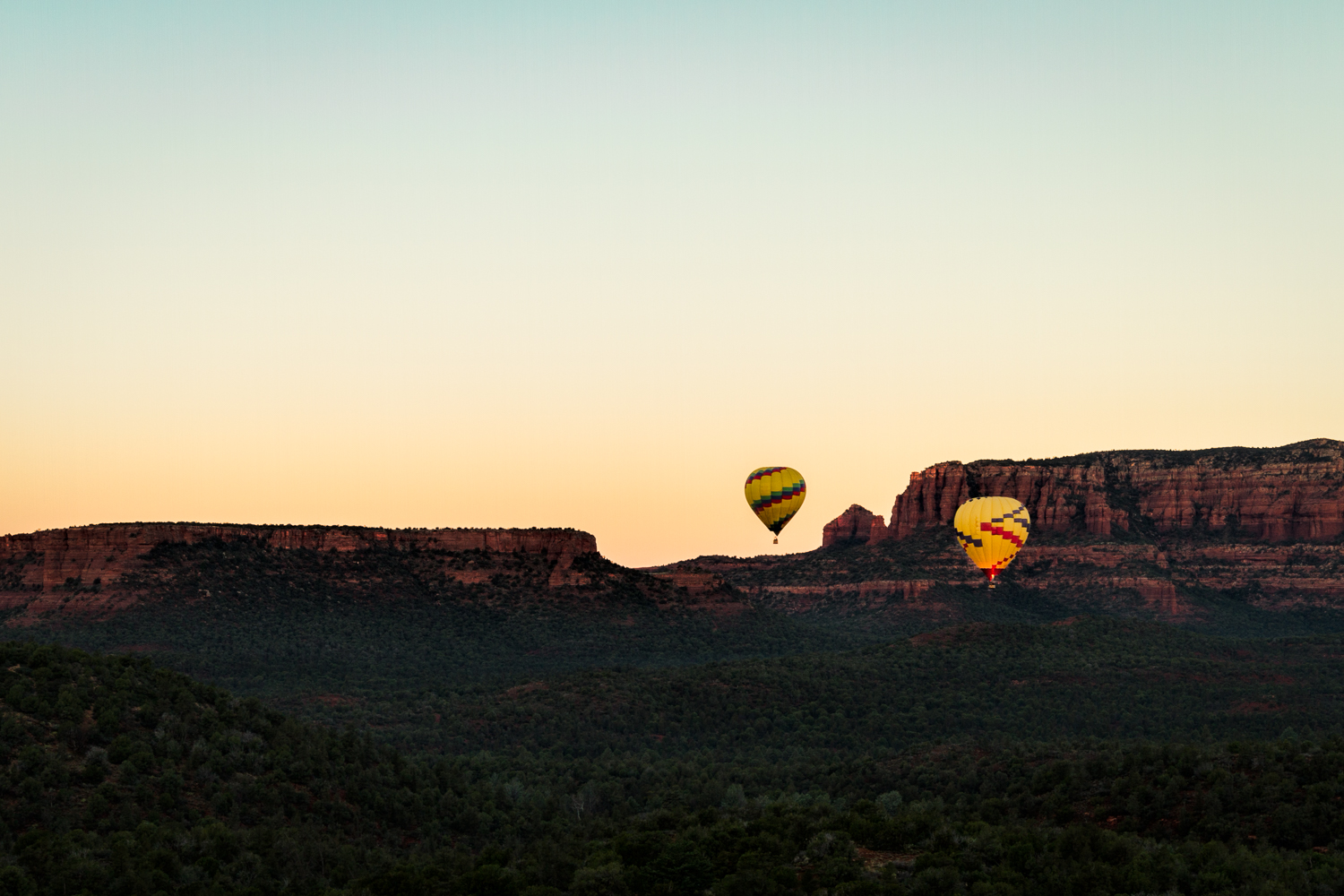 Hot Air Balloons at Sunrise | Sedona | Arizona
