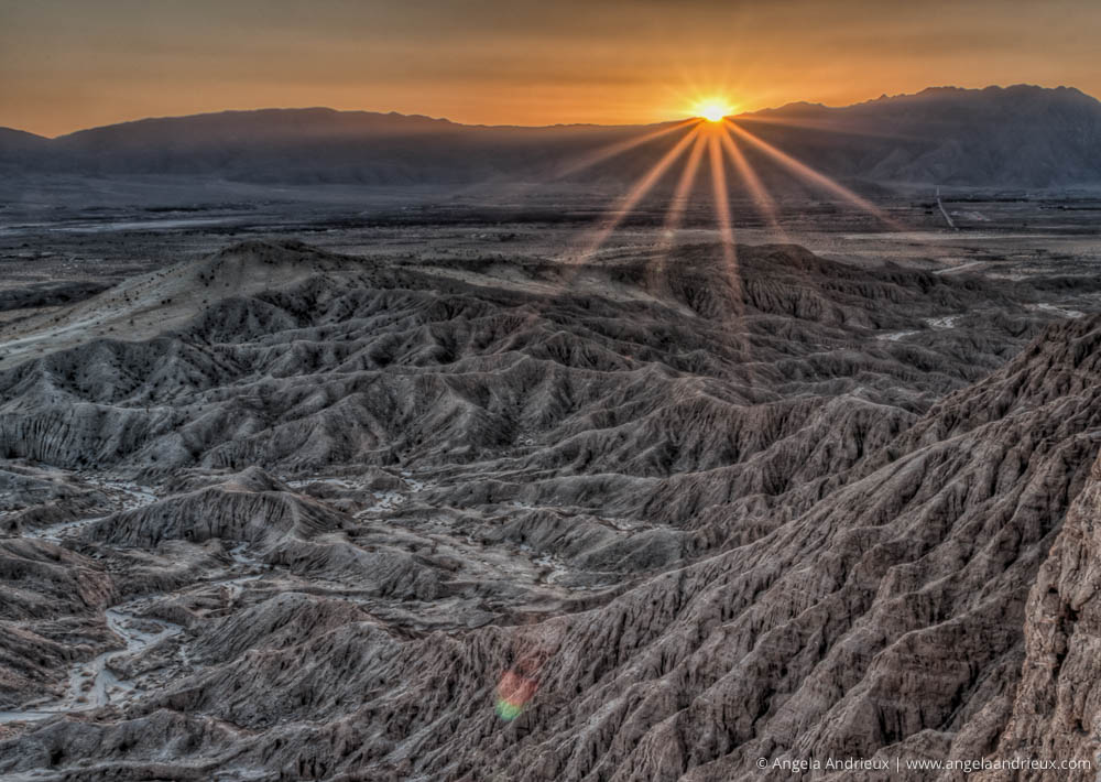Sunset at Font's Point | Anza Borrego Desert State Park | Badlands