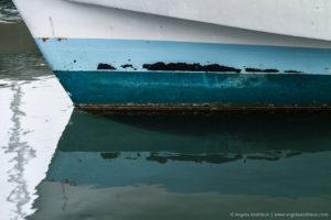 Blue Stripe Boat Refection | Morro Bay, CA