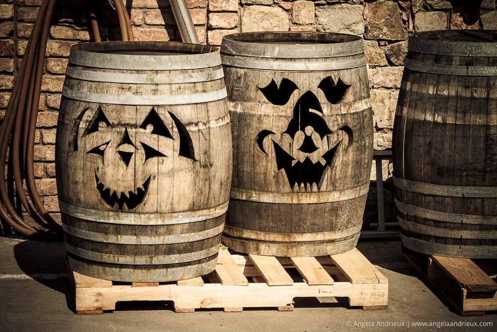 Wine Barrel Jack-o-Lanterns | Castello di Amorosa | Napa Valley | Calistoga, CA