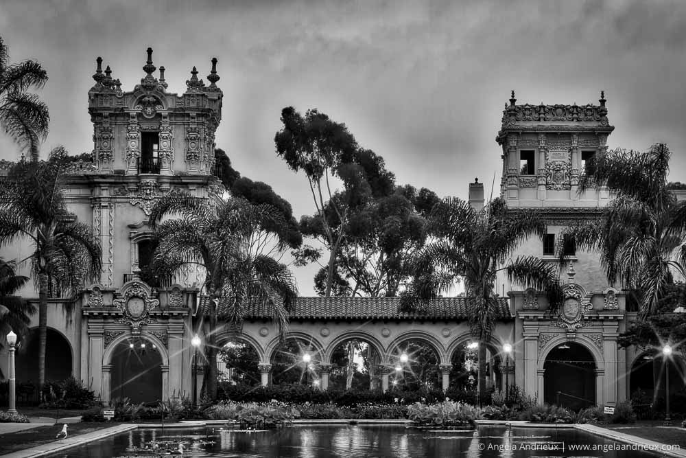 Balboa Park | San Diego, CA | The view from the Botanical Building | 7-exposure HDR, processed in Photomatix Pro & Nik Silver Efex Pro