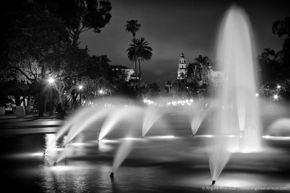 El Prado Fountain | Balboa Park, San Diego, CA | Single exposure processed in Nik Silver Efex Pro