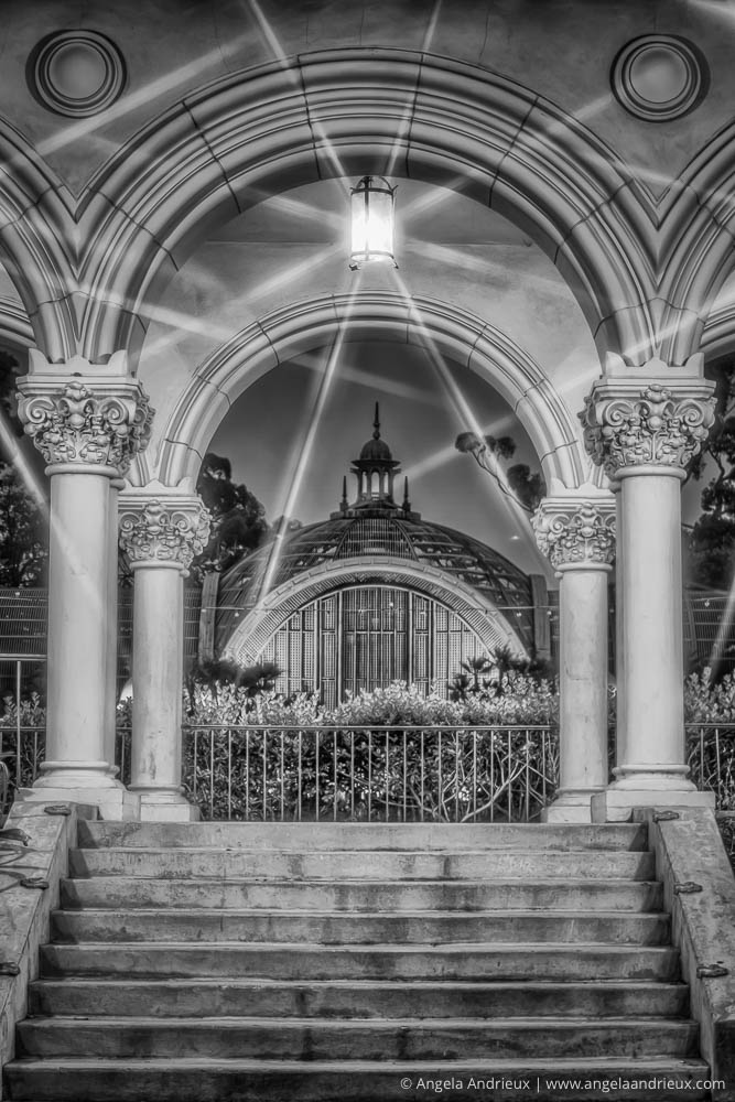 Through the Arches | Balboa Park, San Diego, CA | 4-exposure HDR processed in Photomatix Pro & Nik Silver Efex Pro