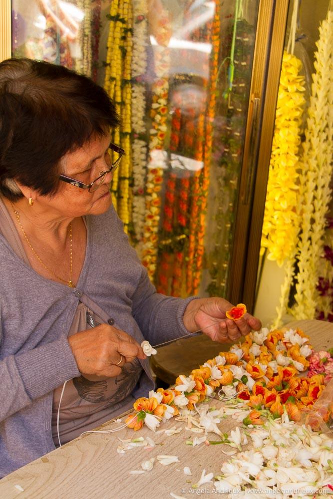 Woman making Lei | Chinatown | Honolulu | Oahu | Hawaii
