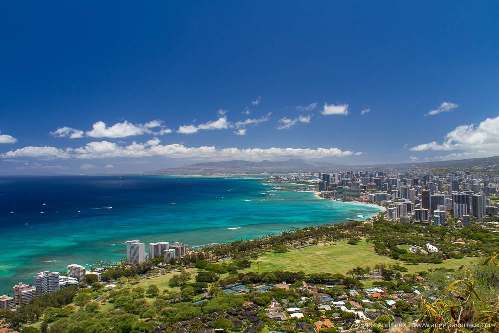 Overlooking Honolulu from Diamond Head State Park | Oahu | Hawai