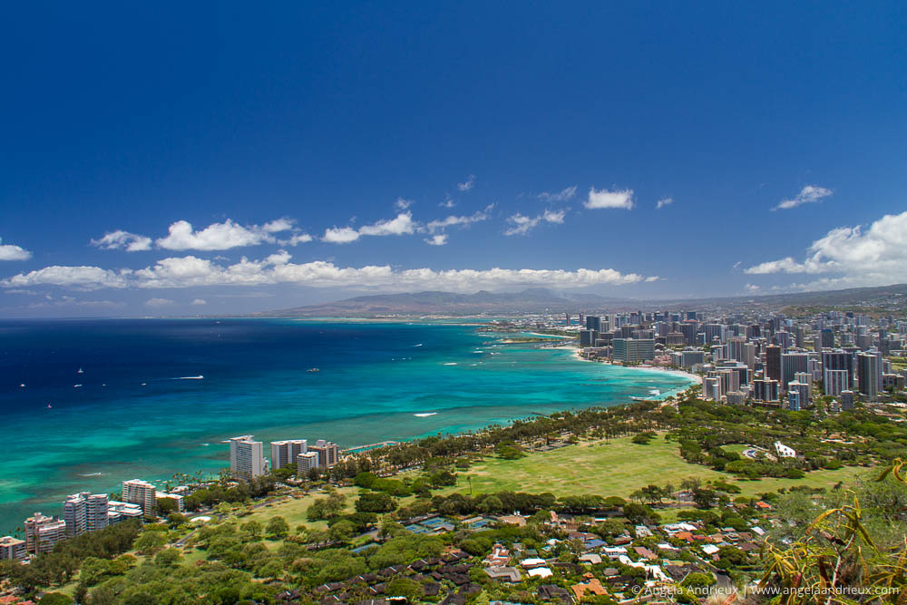 Overlooking Honolulu from Diamond Head State Park | Oahu | Hawai