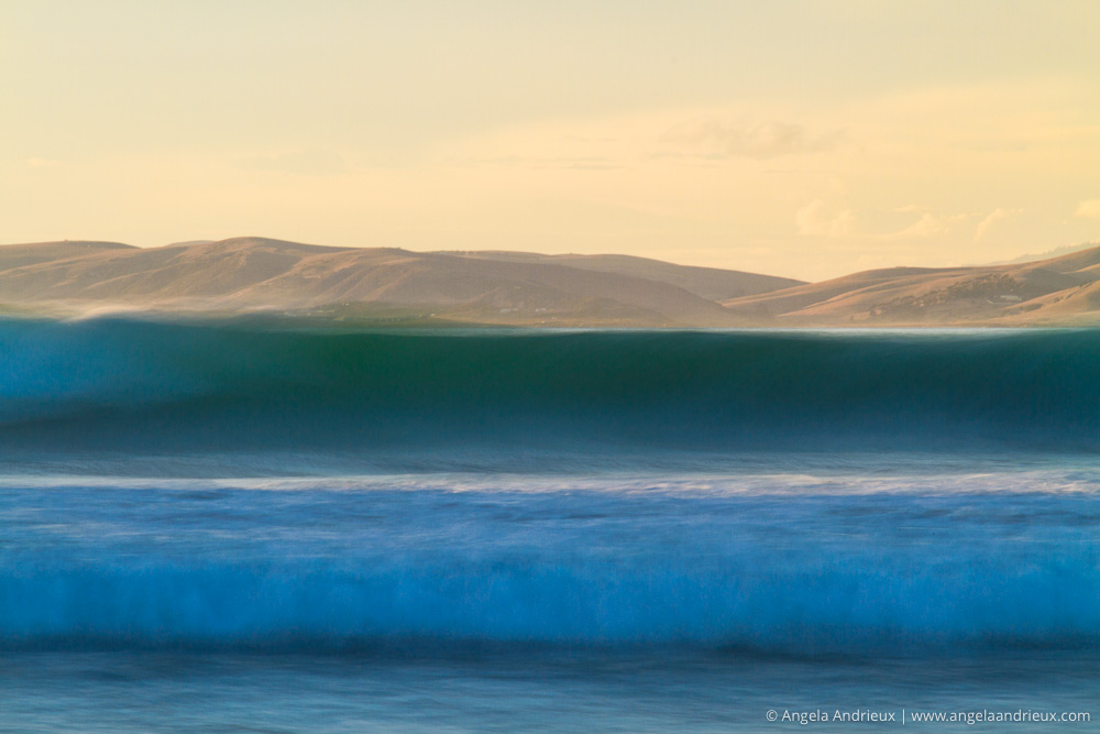Morro Strand State Beach | Morro Bay, CA | Blue Wave Abstract | California Photo Festival
