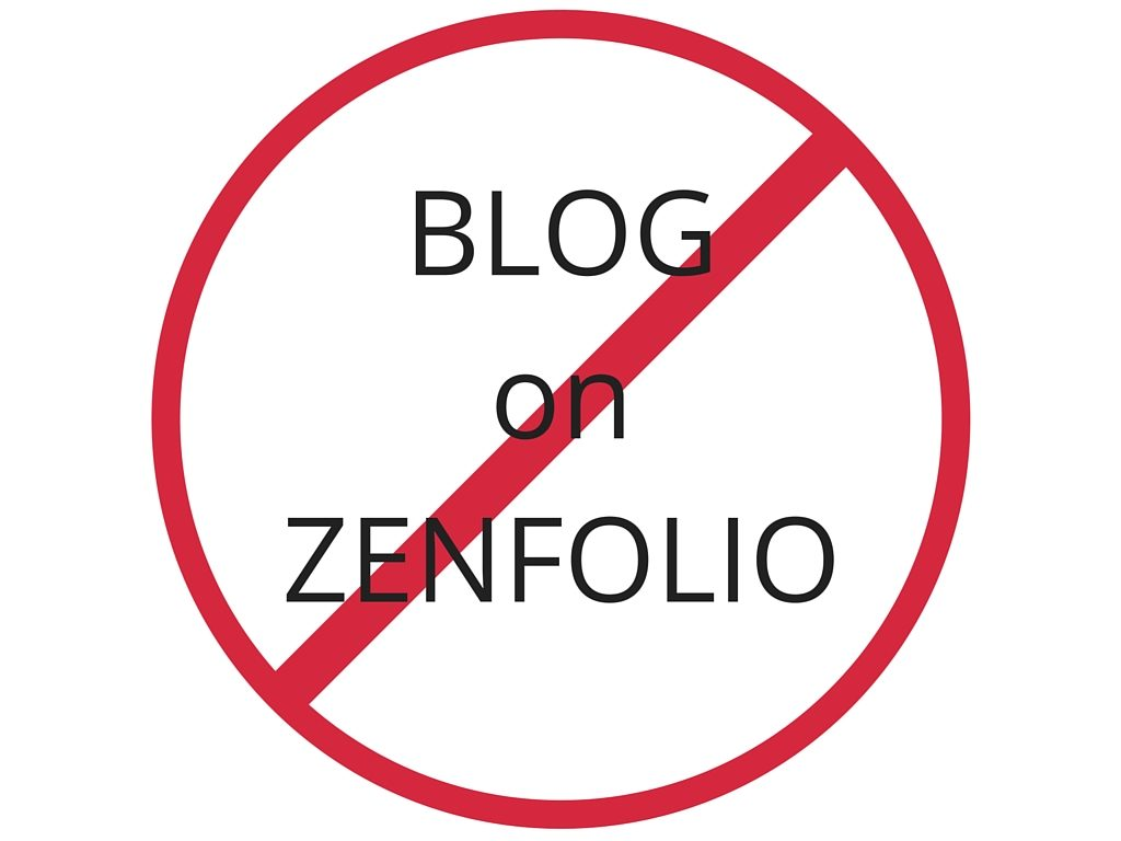 Do Not Blog on Zenfolio