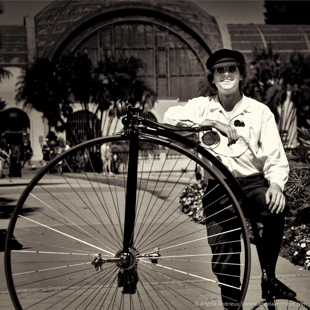 Big Wheel Vintage Bicycle | Balboa Park Maker Faire | San Diego, CA | Scott Kelby Worldwide Photo Walk 2015