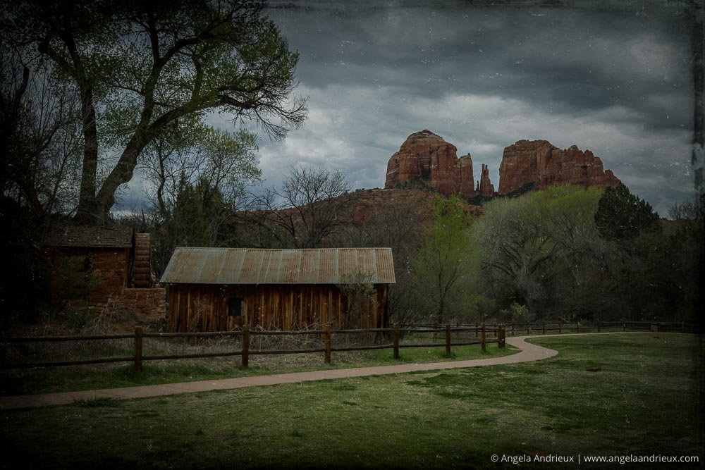 Old house with Cathedral Rock Background | Sedona, AZ