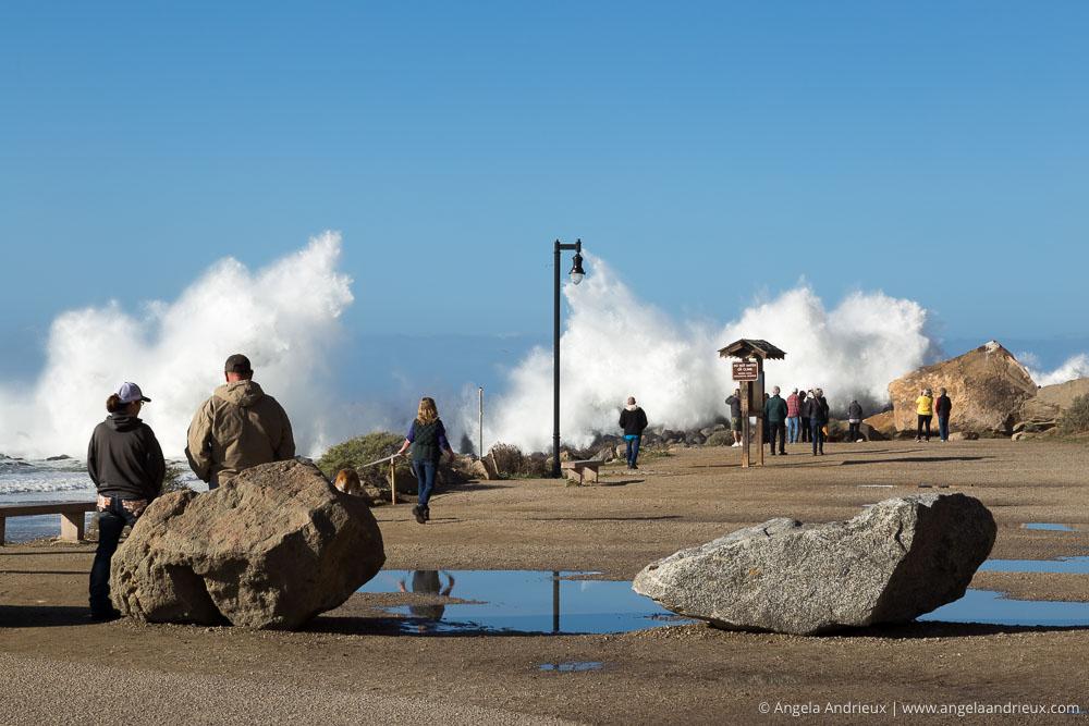 Explosions of Water | Morro Bay, CA | Huge waves breaking over seawall