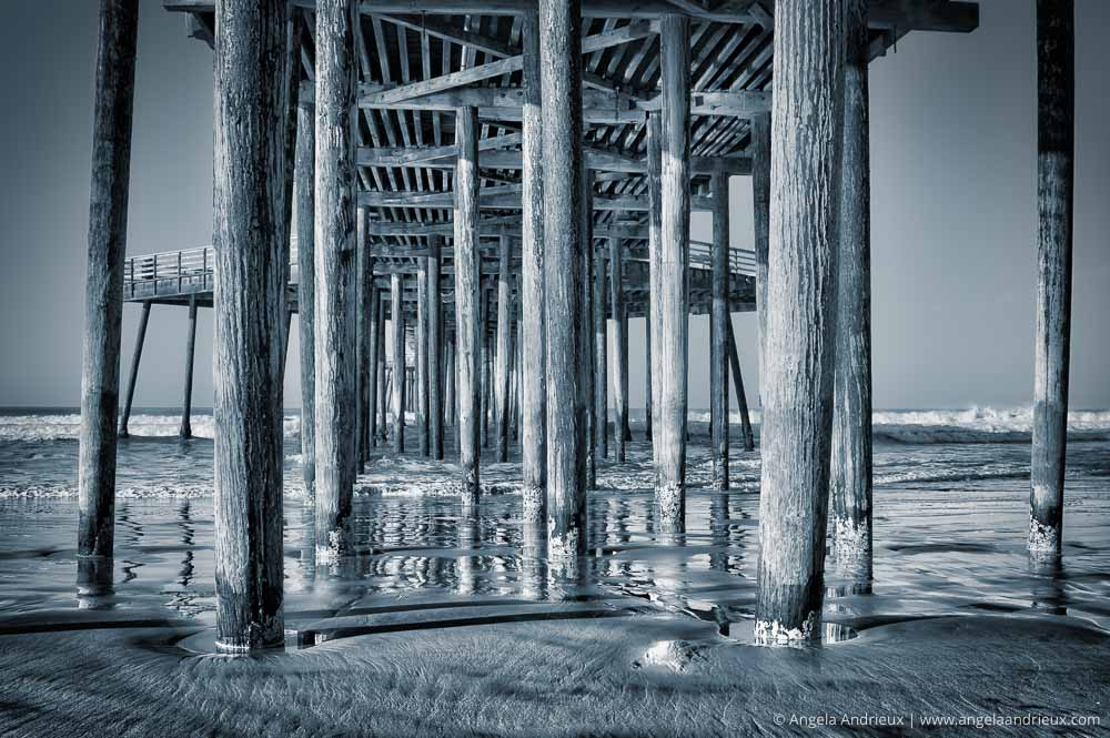 Pismo Beach Pier | Central Coast, CA | Aurora HDR | Monochrome