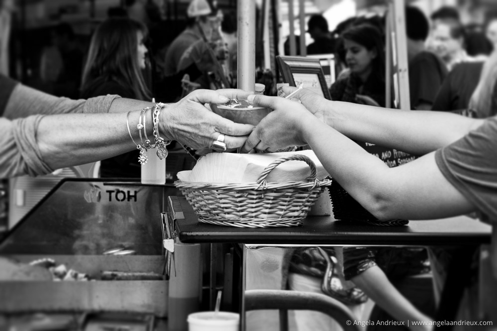 Top 10 Photographs of 2015 | Giving Hands | Adventures in Street Photography | Little Italy | San Diego, CA