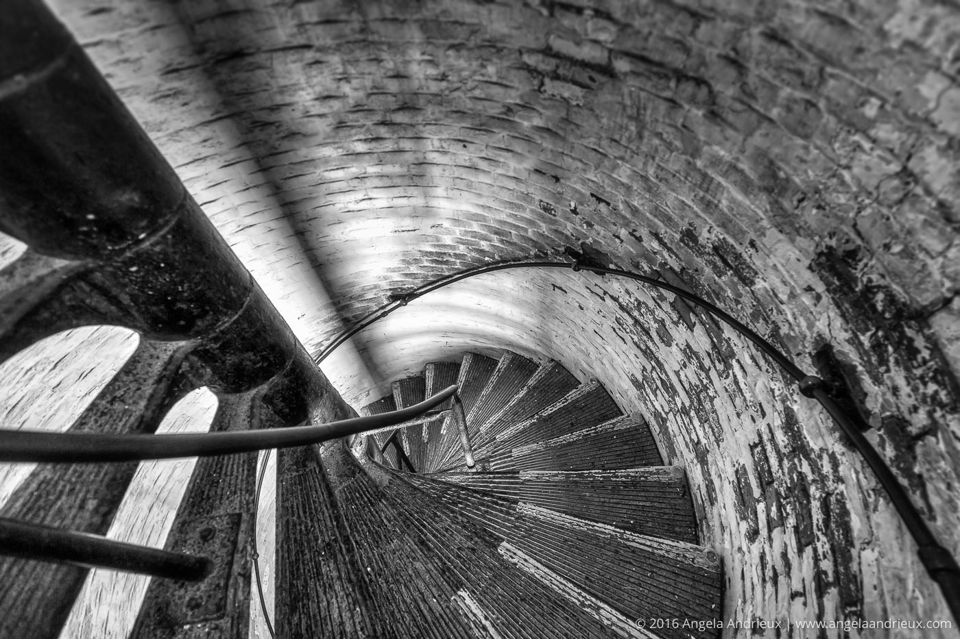 Spiral Staircase | Cape Henry Lighthouse | Fort Story | Virginia Beach, VA