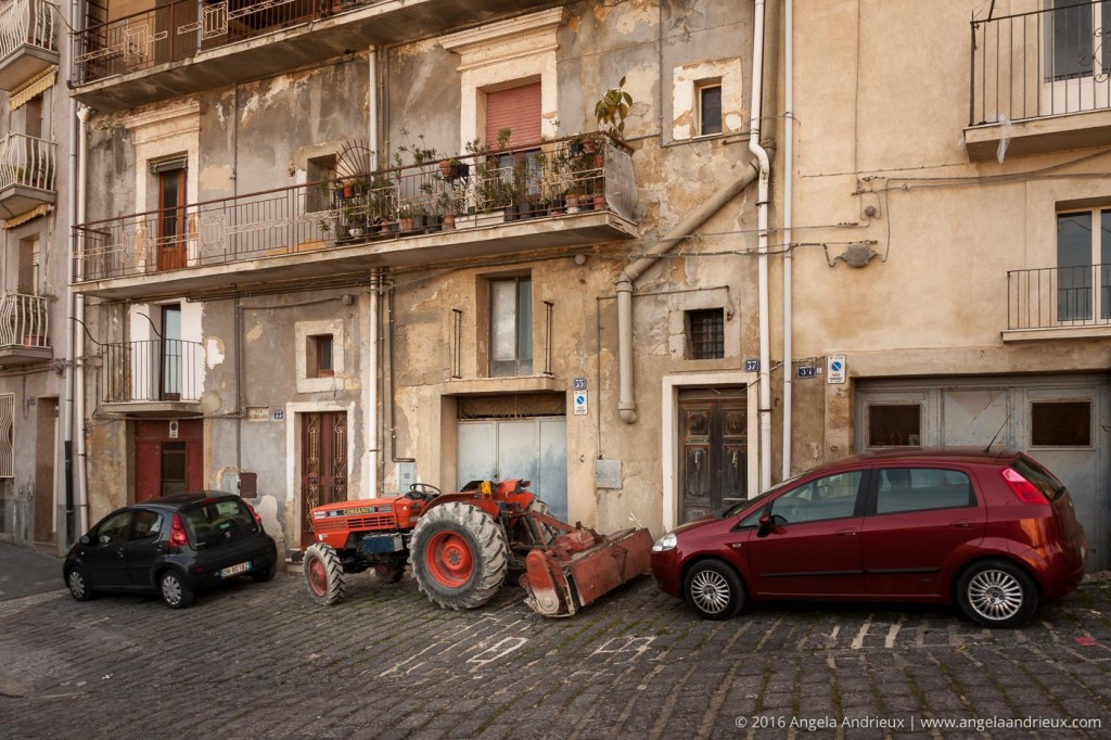 Tractor Parking | Caltagirone | Sicily | Italy