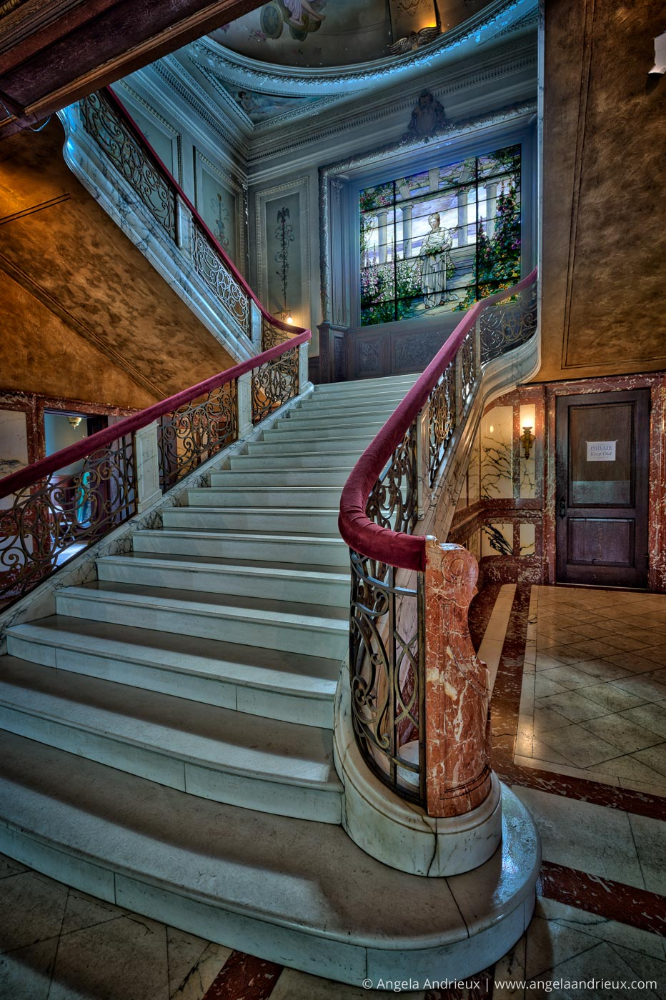 Swannanoa Palace |Tiffany Window & Grand Staircase | Afton, VA-Edit