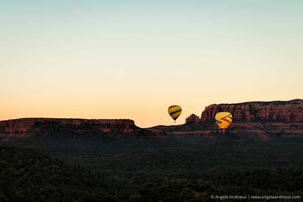 Sedona, Arizona Sunrise with Hot Air Balloons