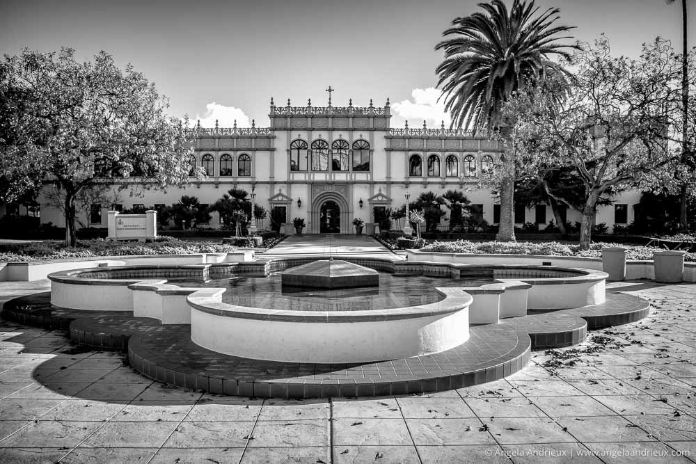 Hughes Administration Center | University of San Diego | Processed with Topaz B&W Effects