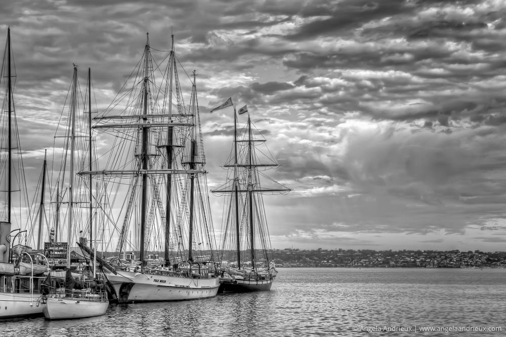 Tall Ships | Festival of Sail | San Diego, CA | Processed with Topaz B&W Effects