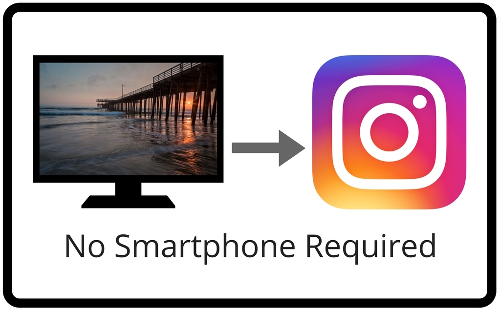Sharing from Computer to Instagram, | No Smartphone Required