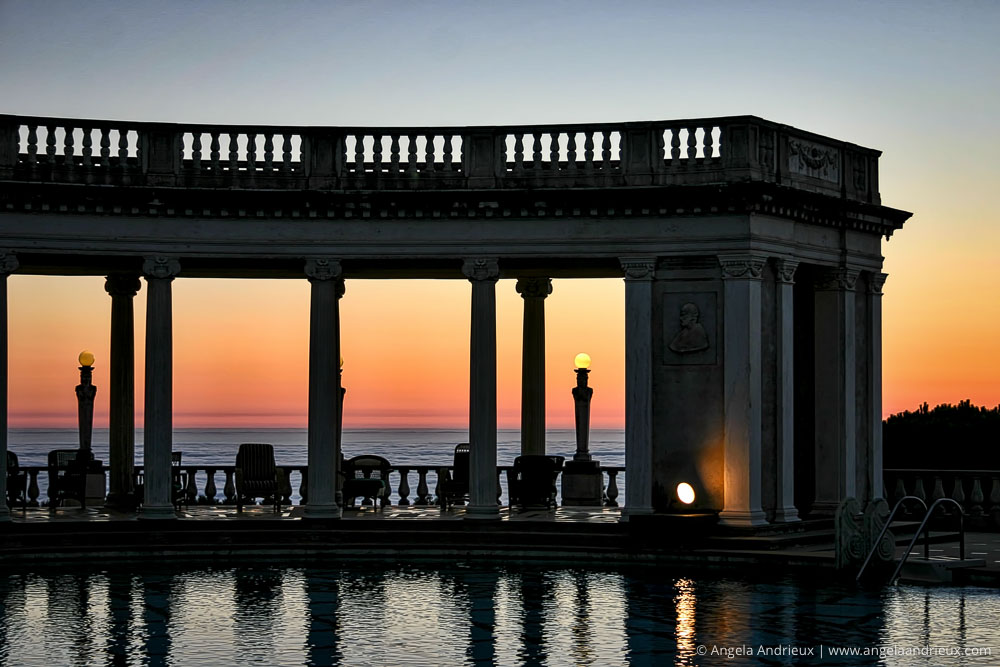 Sunset at Hearst Castle Outdoor Pool | San Simeon, CA | Shot with my first dslr