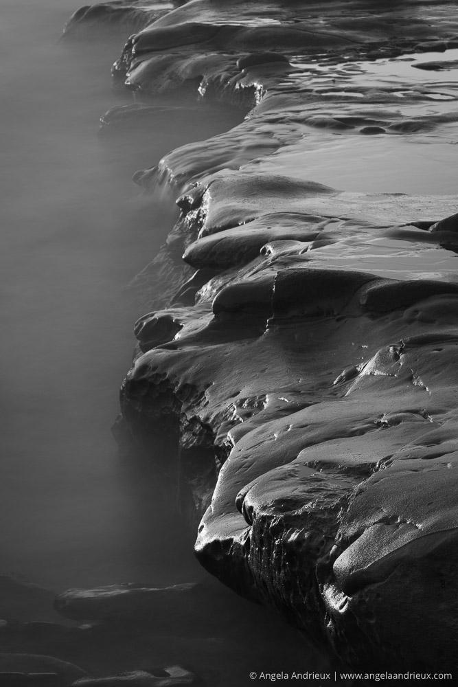Deliberately Enigmatic   La Jolla, CA   Tide Pool Rocks Long Exposure   Black & White   San Diego County Fair Exhibition of Photography