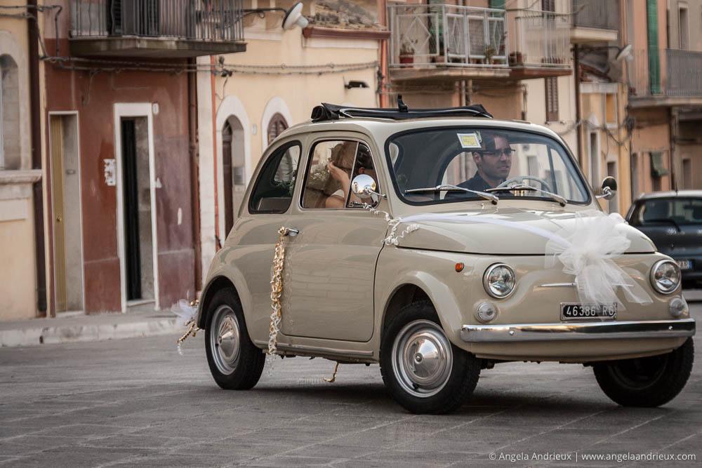 Fiat Cinquecento Wedding Getaway Car | Ragusa Ibla | Sicily | Italy | Scott Kelby Worldwide Photo Walk 2010