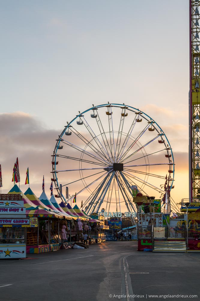 Grand Ferris Wheel & Midway Sunset | San Diego County Fair | Del Mar, CA