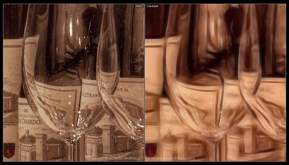 Topaz Glow | Wine Bottles & Glasses | Detail Before & After