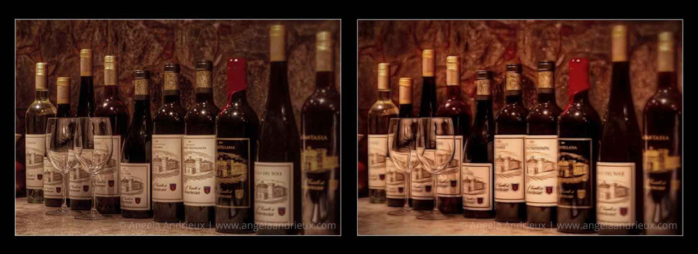 Topaz Glow | Wine Bottles & Glasses | Before & After