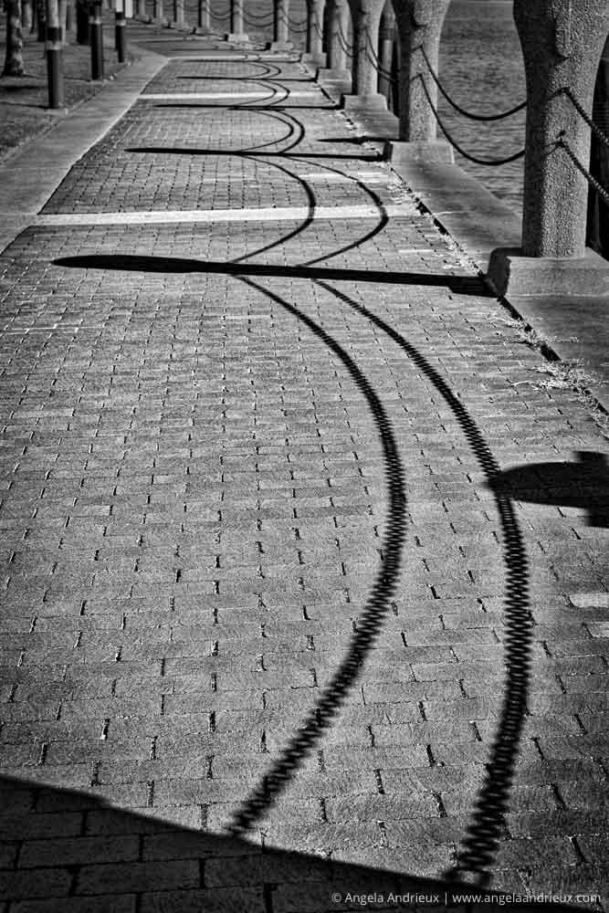 500px Global Photo Walk   Portsmouth, VA   Chain Rail Shadow Play on Path