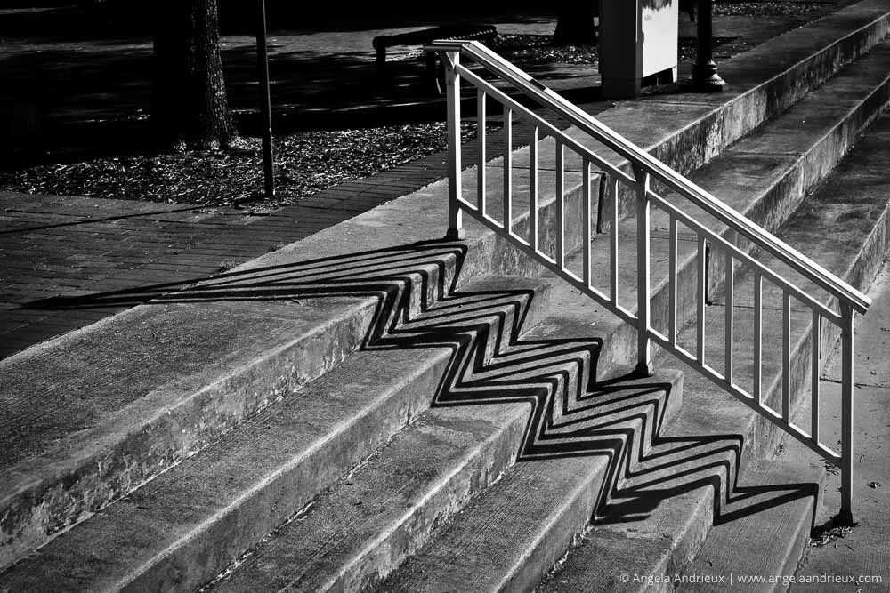 500px Global Photo Walk | Portsmouth, VA | Stairs and Railing Shadow Play