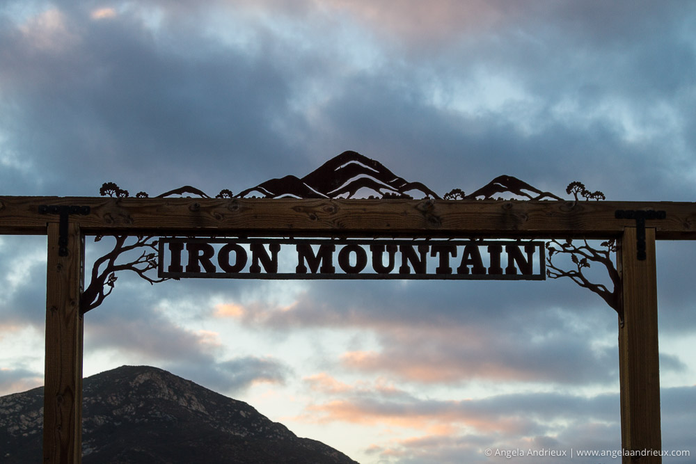 Iron Mountain Trailhead Sign | Poway, CA