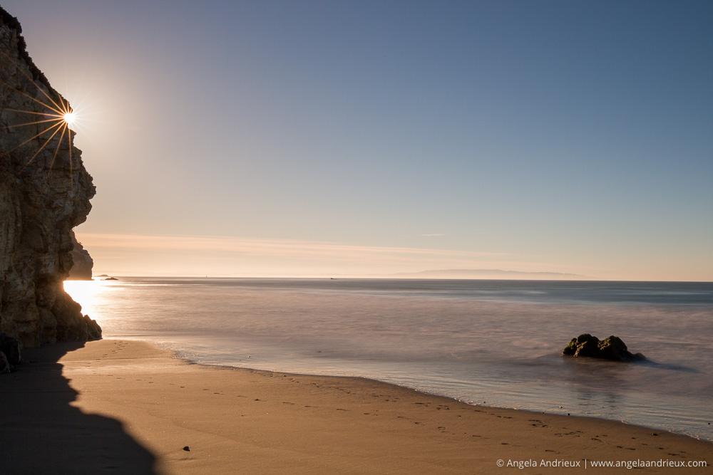 Long Exposure Beach Sunburst | Avila Beach, CA