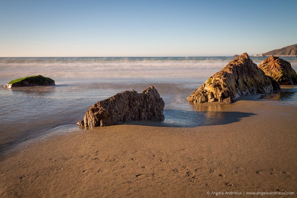 Morning Glow on Rocks | Long Exposure | Avila Beach, CA